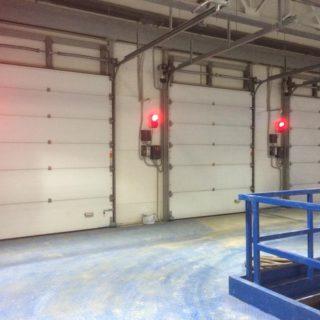 промышленные секционные ворота №12